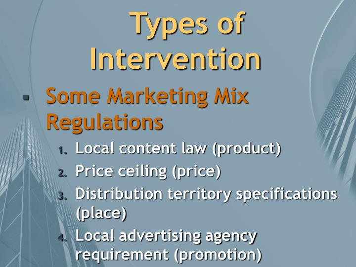 Types of Intervention