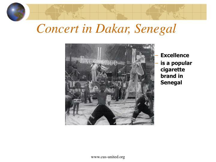 Concert in Dakar, Senegal