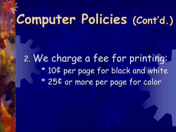 Computer Policies