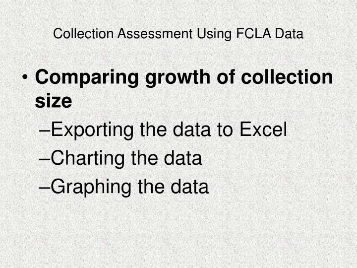 Collection Assessment Using FCLA Data