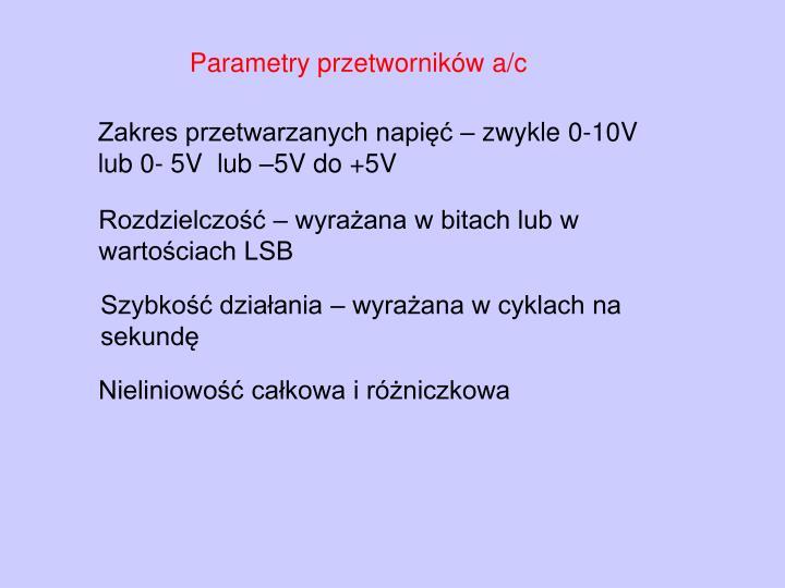 Parametry przetworników a/c