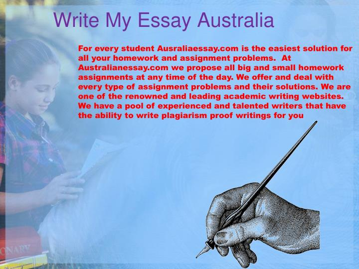 Write My Essay Australia