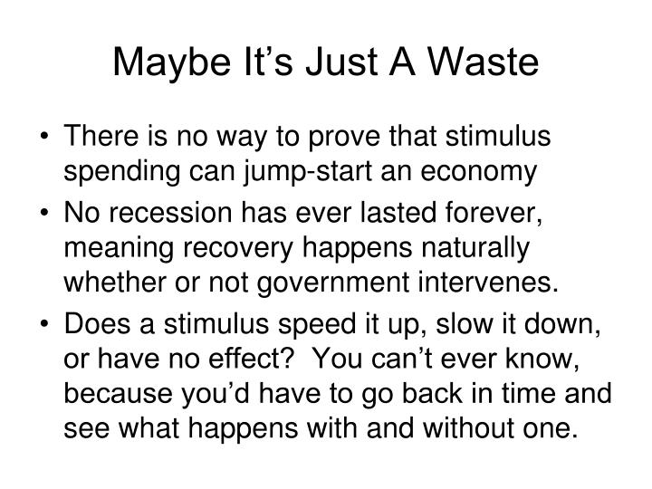 Maybe it s just a waste