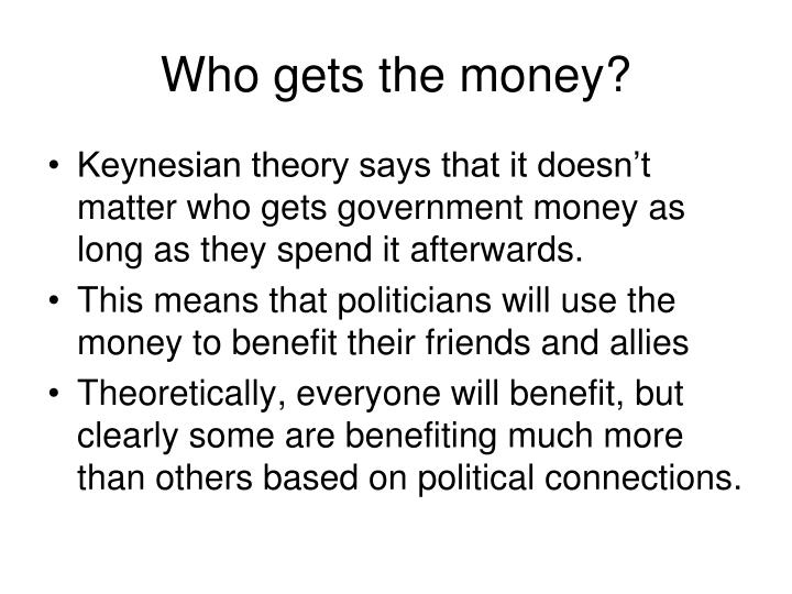 Who gets the money?