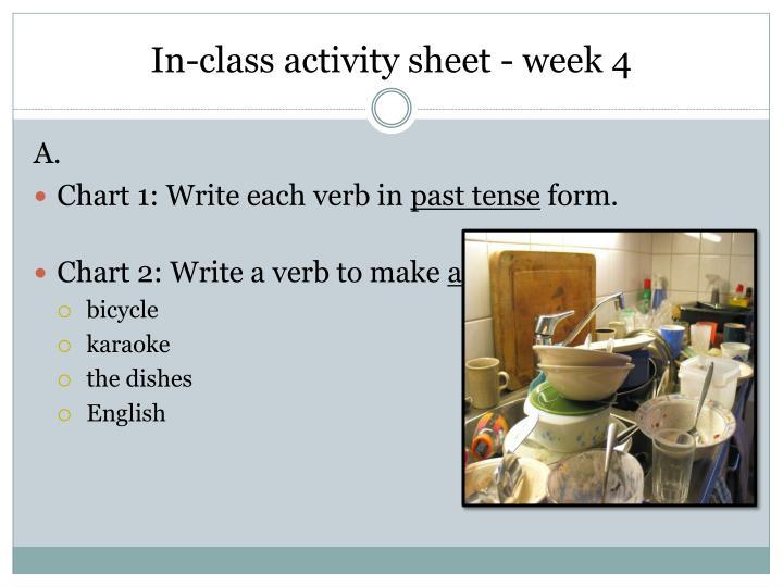 In-class activity sheet - week 4