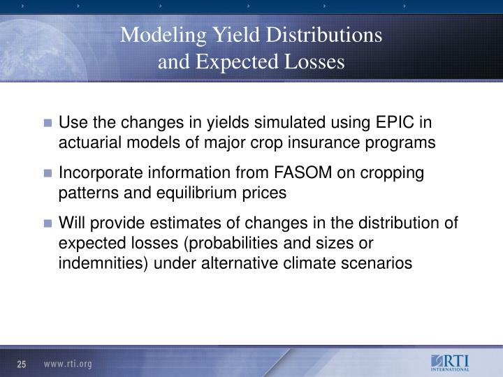 Modeling Yield Distributions