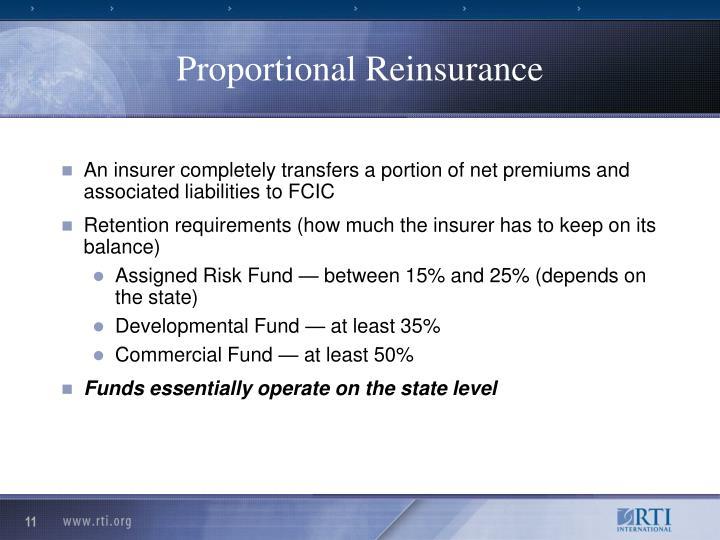 Proportional Reinsurance
