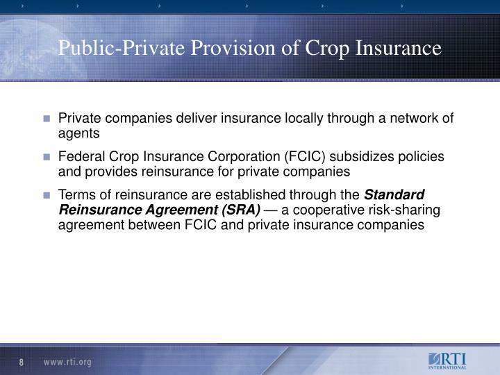 Public-Private Provision of Crop Insurance