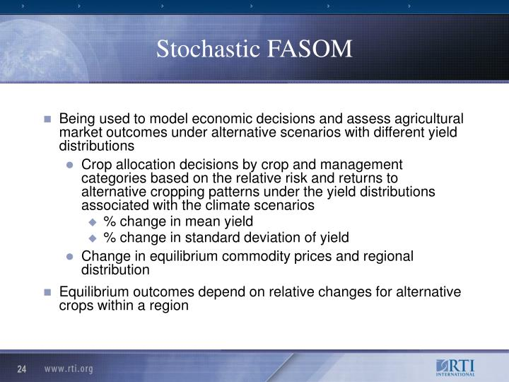 Stochastic FASOM