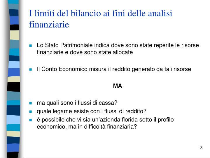 I limiti del bilancio ai fini delle analisi finanziarie