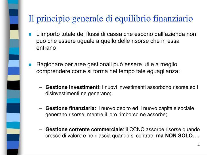 Il principio generale di equilibrio finanziario