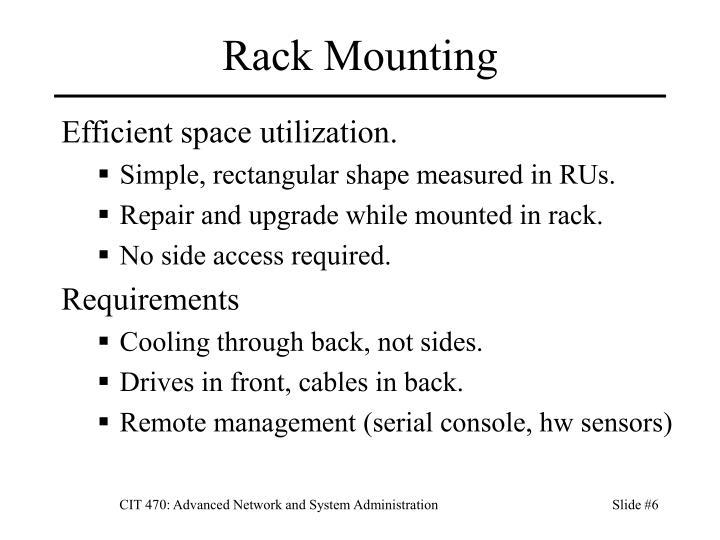 Rack Mounting