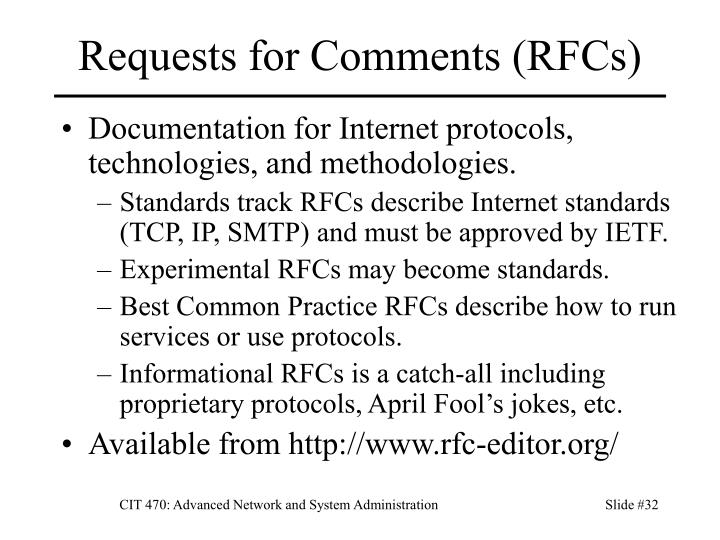 Requests for Comments (RFCs)
