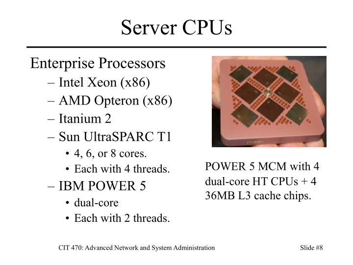 Server CPUs
