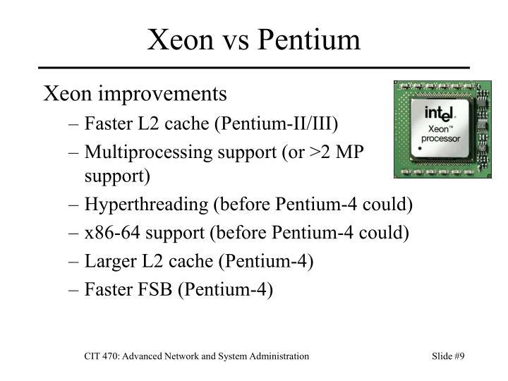 Xeon vs Pentium