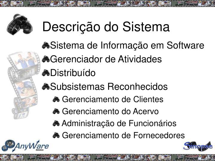 Descrição do Sistema
