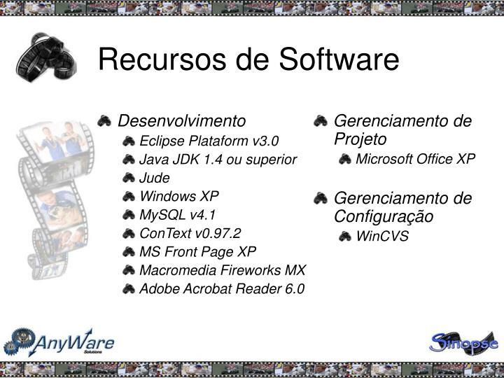 Recursos de Software