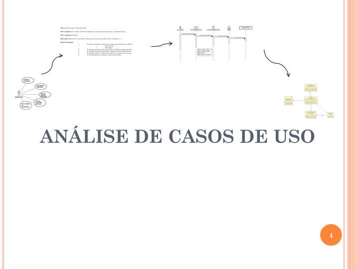 ANÁLISE DE CASOS DE USO