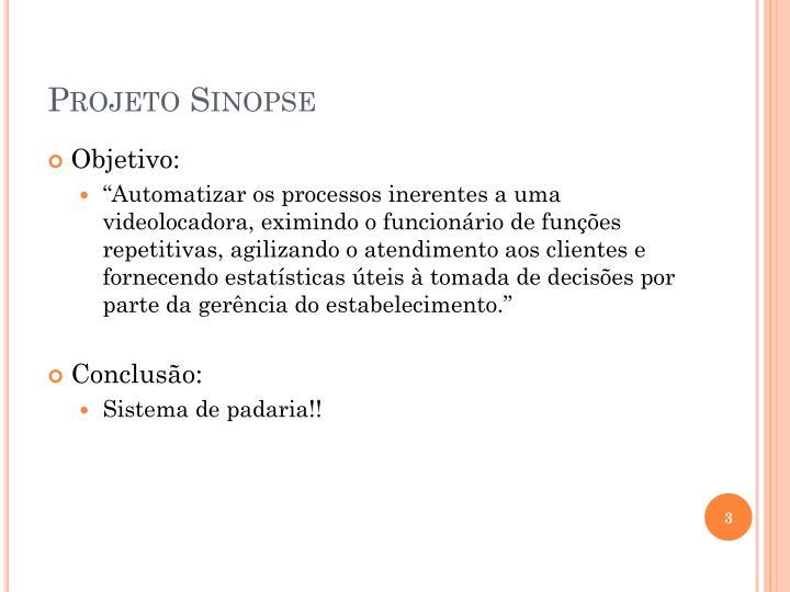 Projeto Sinopse