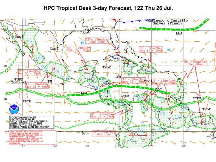 HPC Tropical Desk 3-day Forecast, 12Z Thu 26 Jul