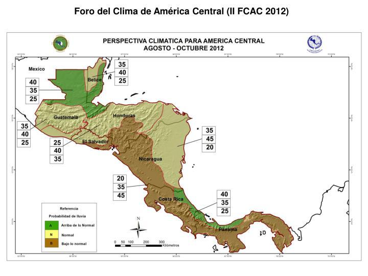 Foro del Clima de América Central