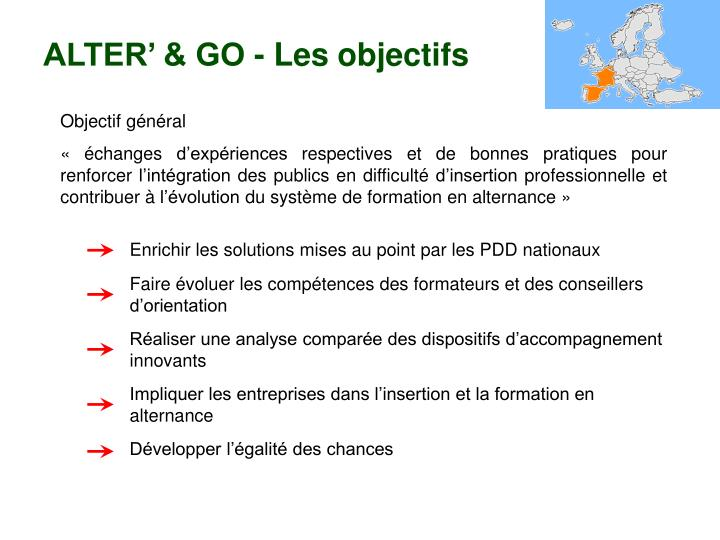 ALTER' & GO - Les objectifs