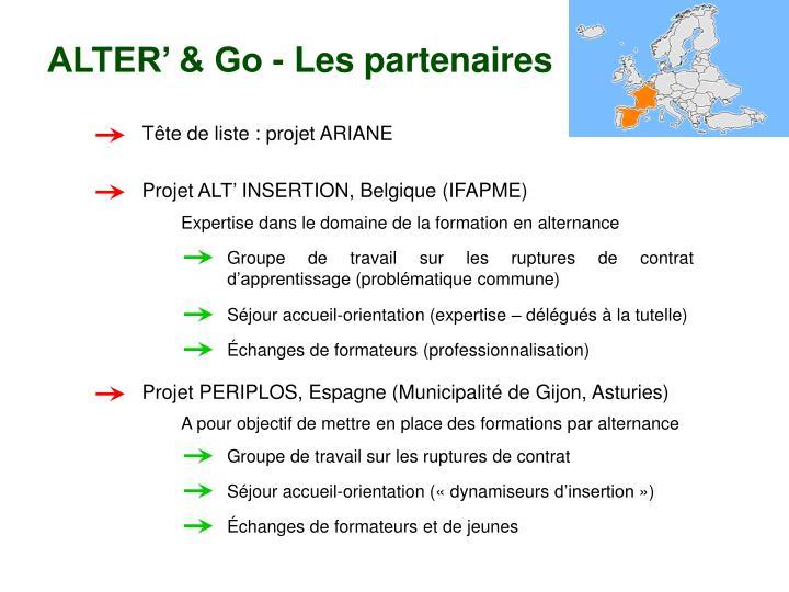 ALTER' & Go - Les partenaires