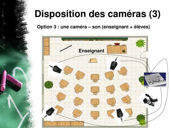 Disposition des caméras (3)