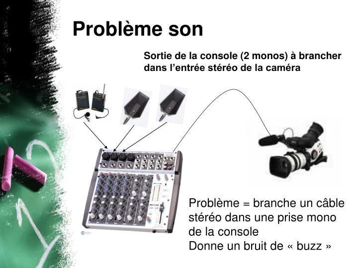 Problème son