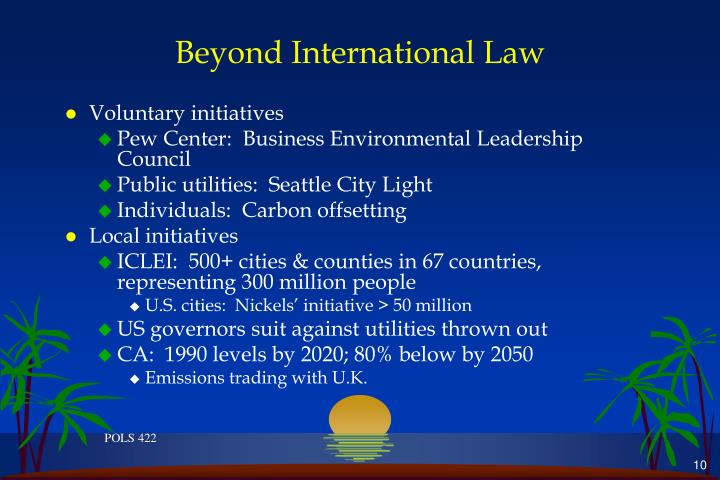 Beyond International Law
