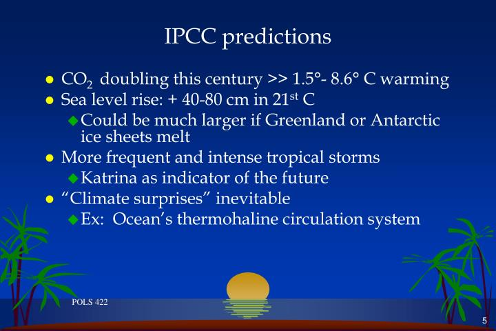 IPCC predictions