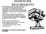 homework requirements