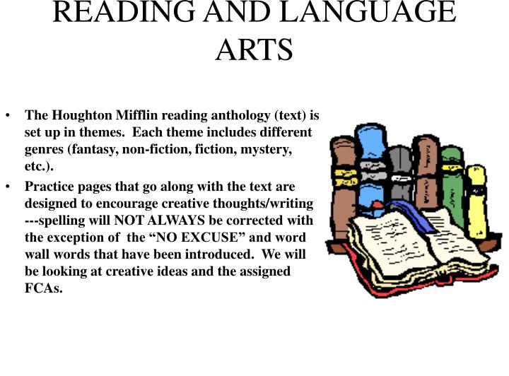 READING AND LANGUAGE ARTS