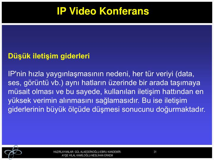 IP Video Konferans