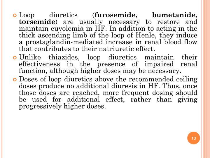 Loop diuretics (