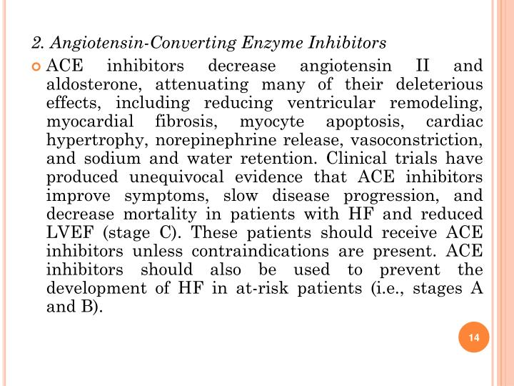 2. Angiotensin-Converting Enzyme Inhibitors