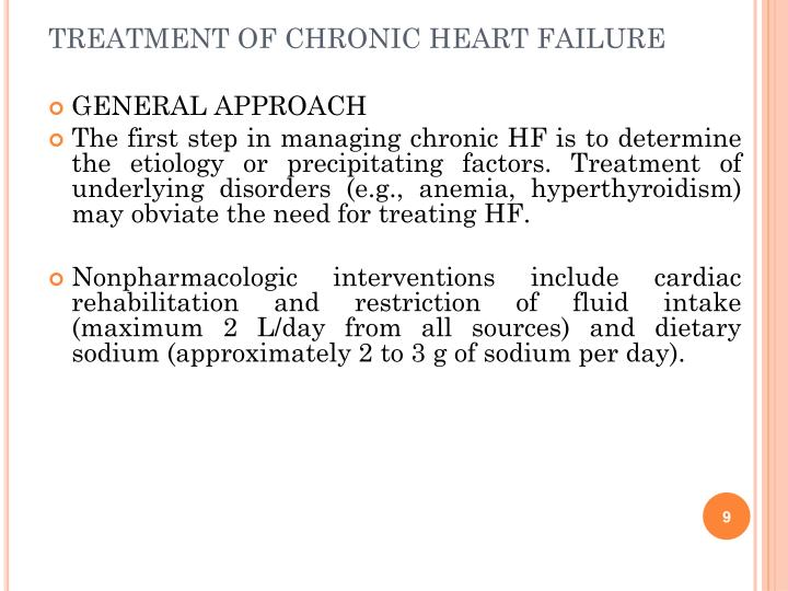 TREATMENT OF CHRONIC HEART FAILURE