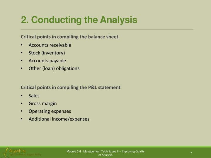 2. Conducting the Analysis
