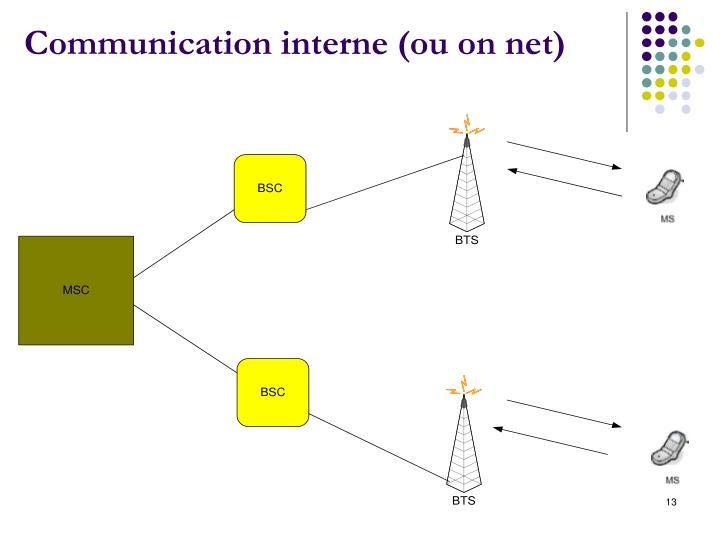 Communication interne (ou on net)