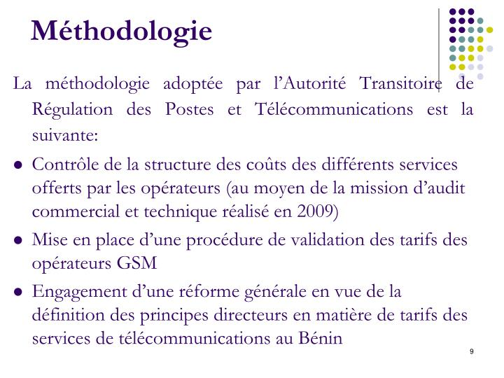 Méthodologie