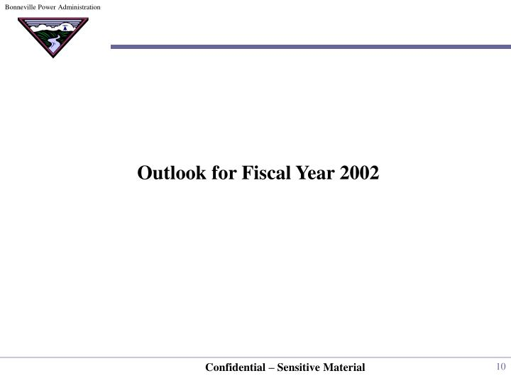 Outlook for Fiscal Year 2002