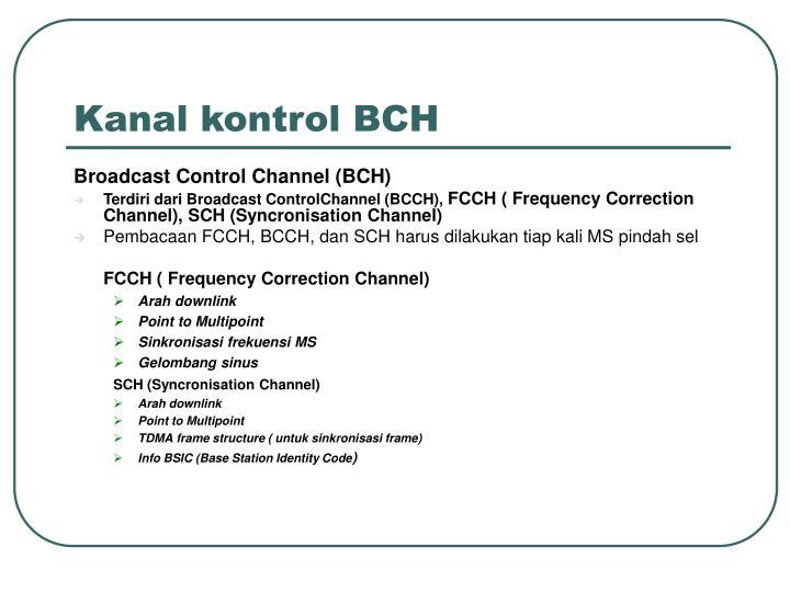 Kanal kontrol BCH