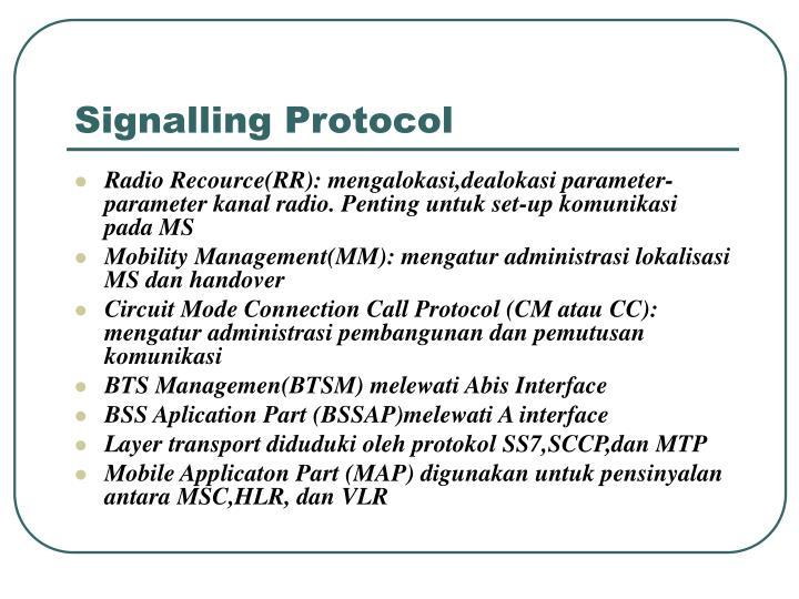 Signalling Protocol
