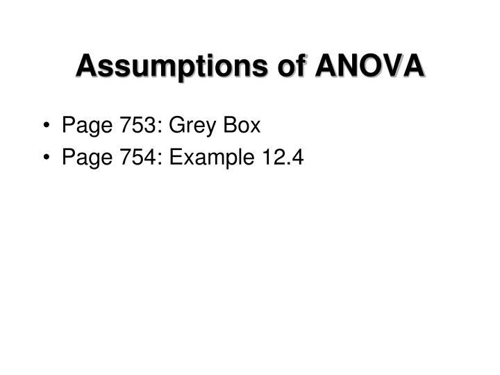 Assumptions of ANOVA