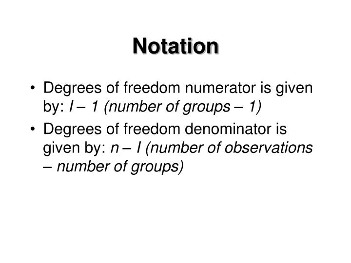 Notation
