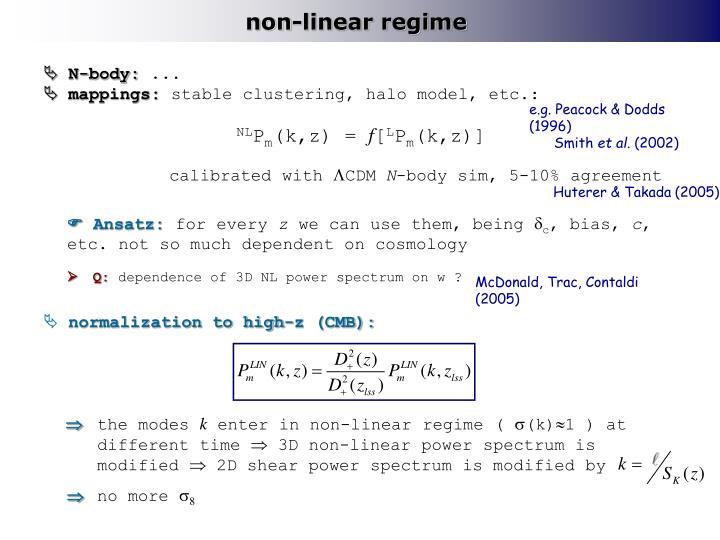 non-linear regime