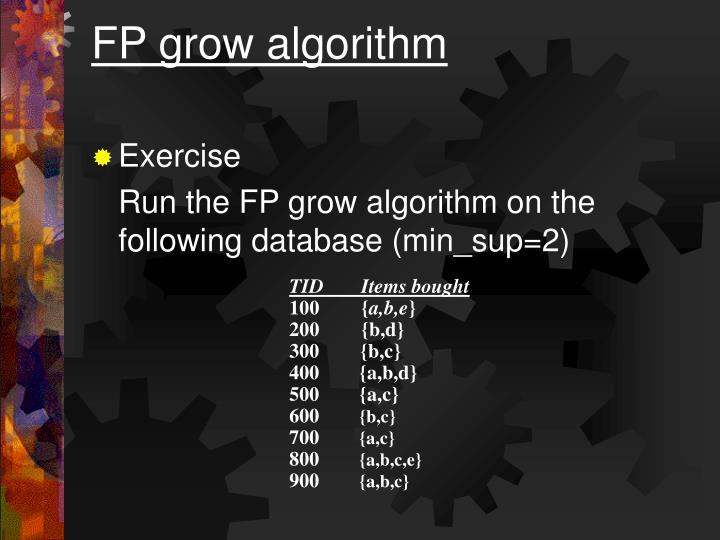 FP grow algorithm