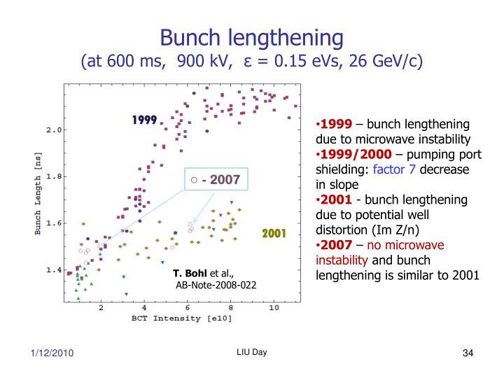 Bunch lengthening