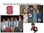 thank you to our dairy bar co chairs