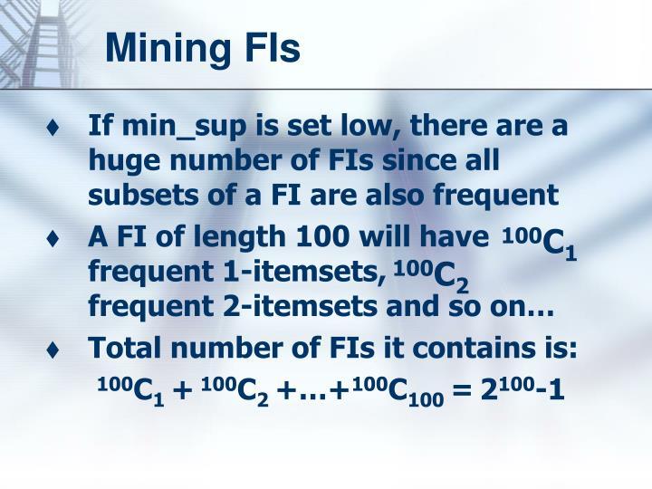 Mining FIs